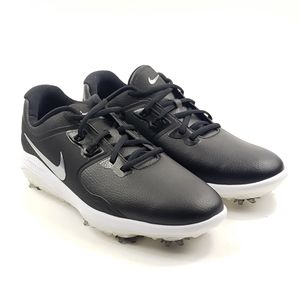 Nike Vapor Pro black leather wide fit golf shoes